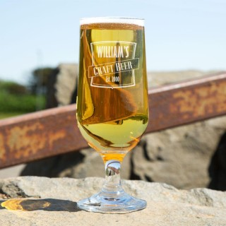 Personalised Craft Beer Glass Chalice