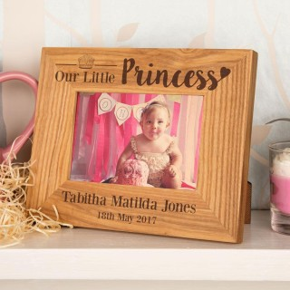 Our Little Princess Unique Oak Frame