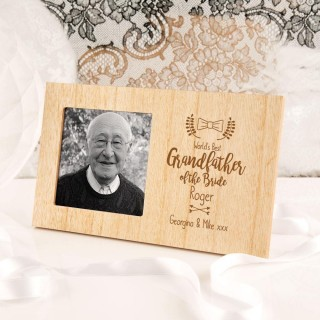 Personalised Grandfather of the Bride Wooden Frame