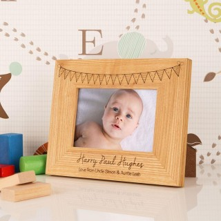 Customised Bunting Oak Frame: Landscape