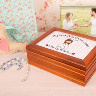 1st Holy Communion Musical Jewellery Box