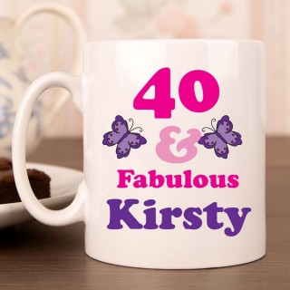 40 And Fab Birthday Mug For Her