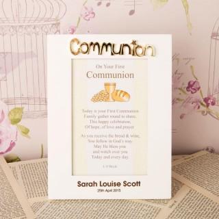 Personalised White Communion Frame