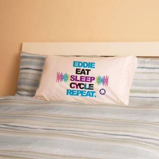 Personalised Eat Sleep Cycle Repeat Pillowcase