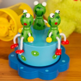 Merry Go Round Frog Music Box