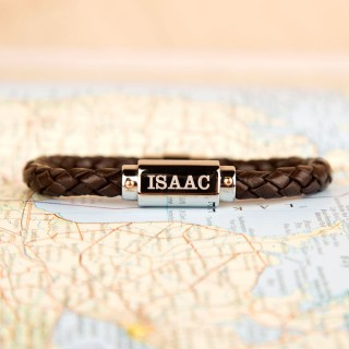 Bespoke Brown Leather Bracelet