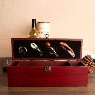 Wine Box And Bar Gift Set