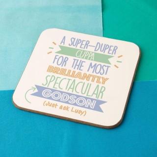 Personalised Best Godson...Just Ask Coaster