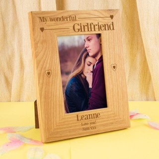 Wonderful Girlfriend Customised Oak Frame