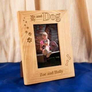 Customised Me and my Dog Oak Frame