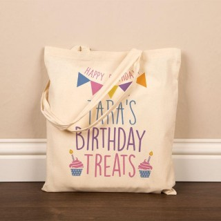 Birthday Cotton Tote Bag for Her