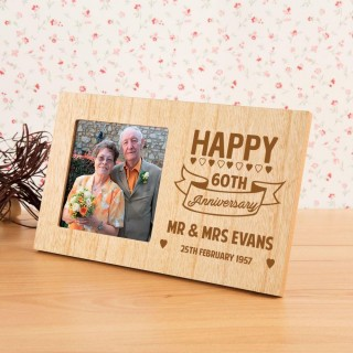 60th Wedding Anniversary Customised Photo Frame