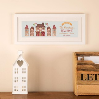 New Home Watercolour Personalised Framed Print