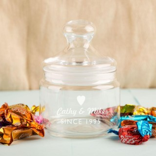Bespoke Anniversary Glass Sweet Jar