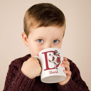 Personalised Hand Illustrated Alphabet Mug