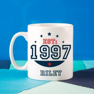 Personalised 18th Birthday Est Mug For Him