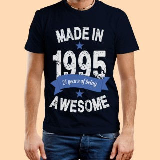 Personalised Made In Year Mens Tee