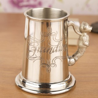 Grandson Tankard With Teddy Handle