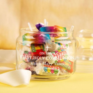 First Holy Communion Glass Sweet Jar