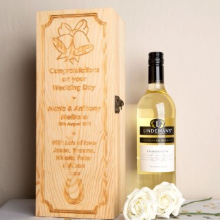 Bespoke Wedding Wooden Wine Box