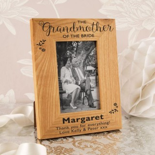 Grandmother of the Bride Oak Photo Frame