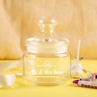 Custom Vintage Anniversary Sweet Jar