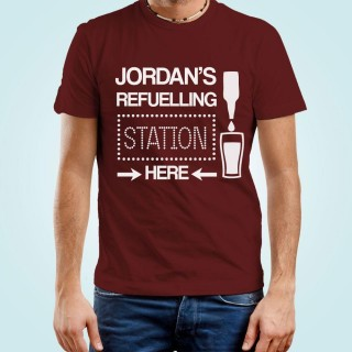 Mens Customised Beer Filling Station Tee