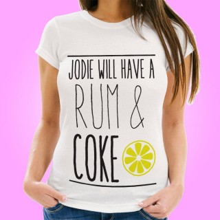 Personalised Rum & Coke Womens T-Shirt