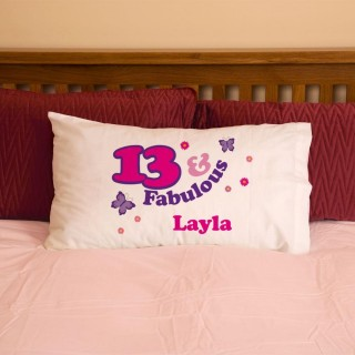 Girls 13 And Fabulous Pillowcase