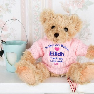 Personalised Godmother Embroidered Teddy Bear
