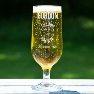 Papa Bear Customised Beer Glass