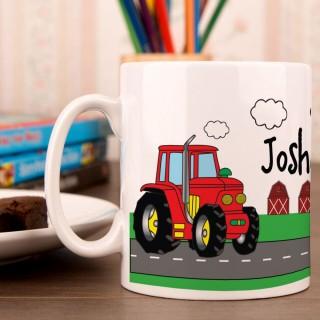 Red Tractor Mug