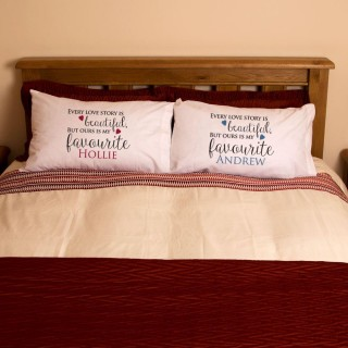 Mr and Mrs Every Love Story Pillowcase Set