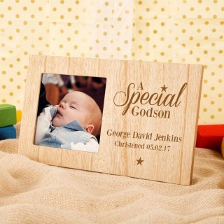 Customised Special Godson Engraved Photo Frame