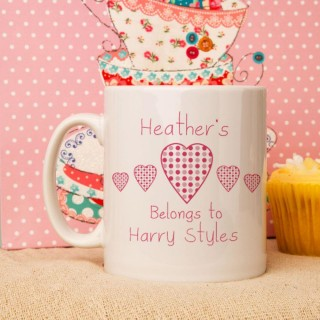 Personalised My Heart Belongs To Mug