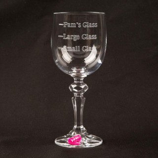 Personalised Measure Crystal Wine Glass