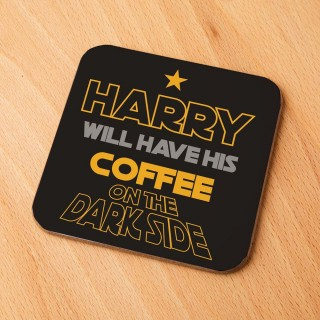 Geeky Coffee on the Dark Side Custom Drinks Coaster