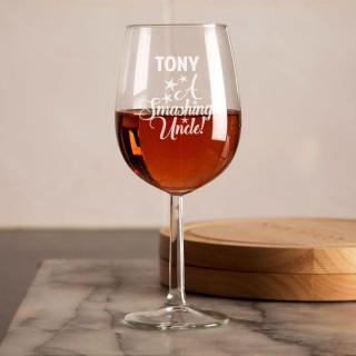 Unique Smashing Uncle Engraved Wine Glass