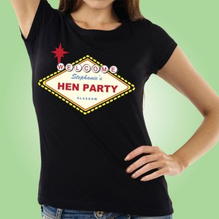 Customised Vegas Style Hen Do T-Shirt