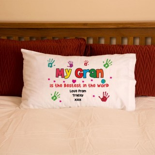 Gran Grandma Nan Hand Print Pillowcase