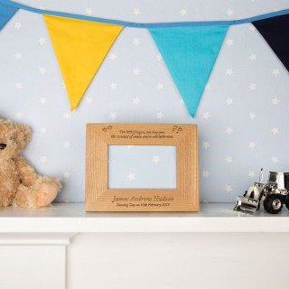 Naming Day Wooden Frame