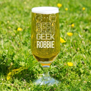 Personalised Beer Geek Glass Chalice