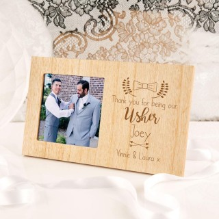 Personalised Usher Wooden Photo Frame
