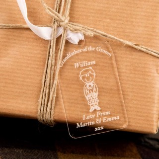 Grandfather Of Groom Gift Tag