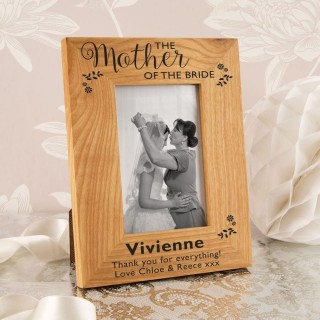 Mother of the Bride Oak Photo Frame