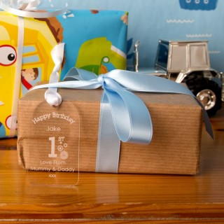 1st Birthday Acrylic Gift Tag
