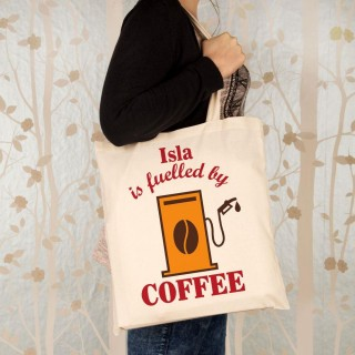 Fuelled By Coffee Personalised Shopper Bag