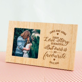 Every Love Story Customised Wooden Photo Frame