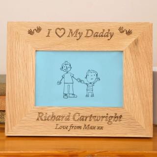I Love My Daddy Oak Frame