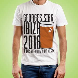 Customised Pint Themed Stag Do Tee